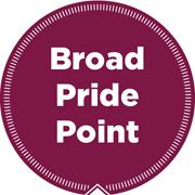 Broad pride point